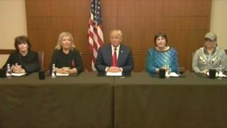 donald trump holds press conference with women abused by bill and hillary clinton