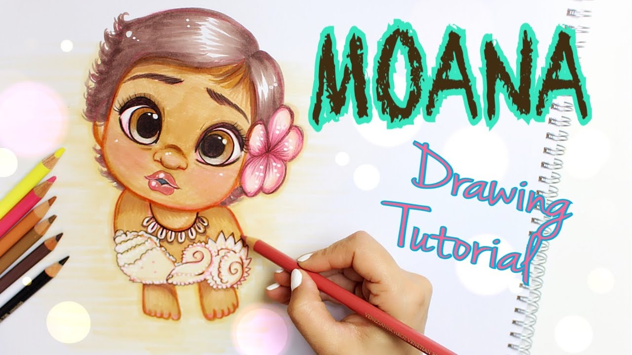 DISNEY BABY MOANA  DRAWING TUTORIAL  YouTube