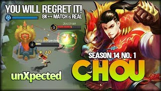 Undead Chou, Next Level Gameplay! unXpected Season 14 No. 1 Chou - Mobile Legends