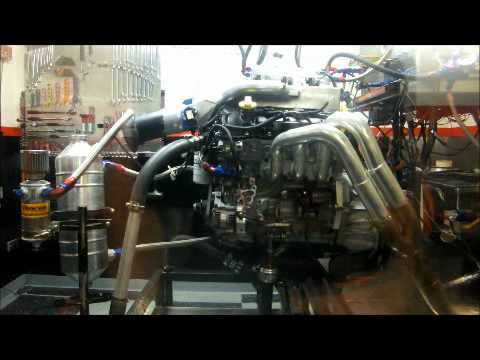444 horsepower naturally aspirated V6 Allyotec engine dyno with CPR6  manifold