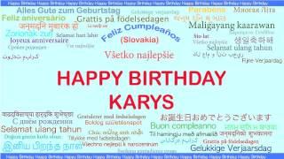 Karys   Languages Idiomas - Happy Birthday