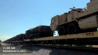 HD- CSX SD40-2 on UP Military Train through North Hills & More!: 9/4/11