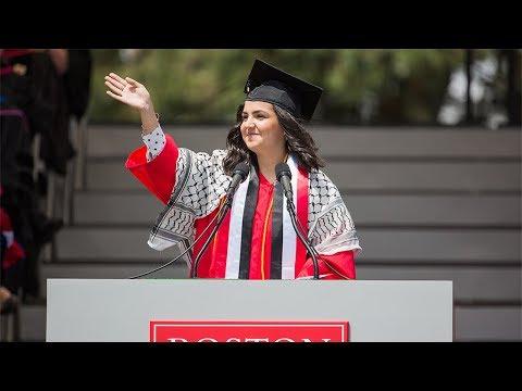 Student Speaker Yasmin Younis (COM'18)