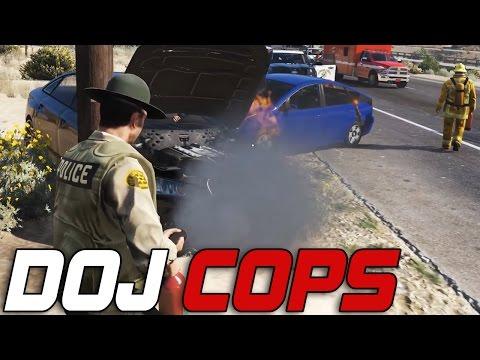 Dept. of Justice Cops #119 - 3 Vehicle Collision (Law Enforcement)