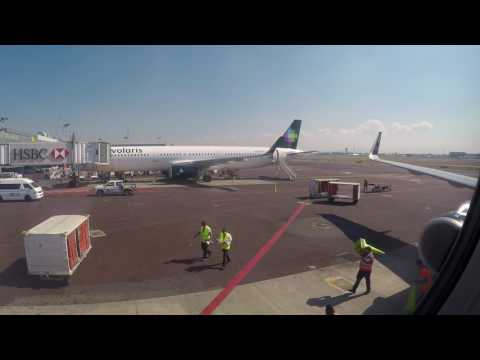 VOI 738 MMMX MMGL Mexico city-Guadalajara airport Volaris Airbus A321 Full flight  pax view