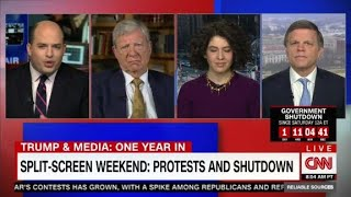 Split-screen weekend: protests and shutdown