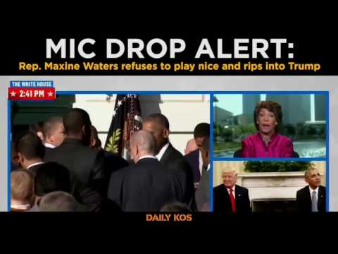 MIC DROP ALERT: Rep. Maxine Waters refuses to play nice and rips into Trump