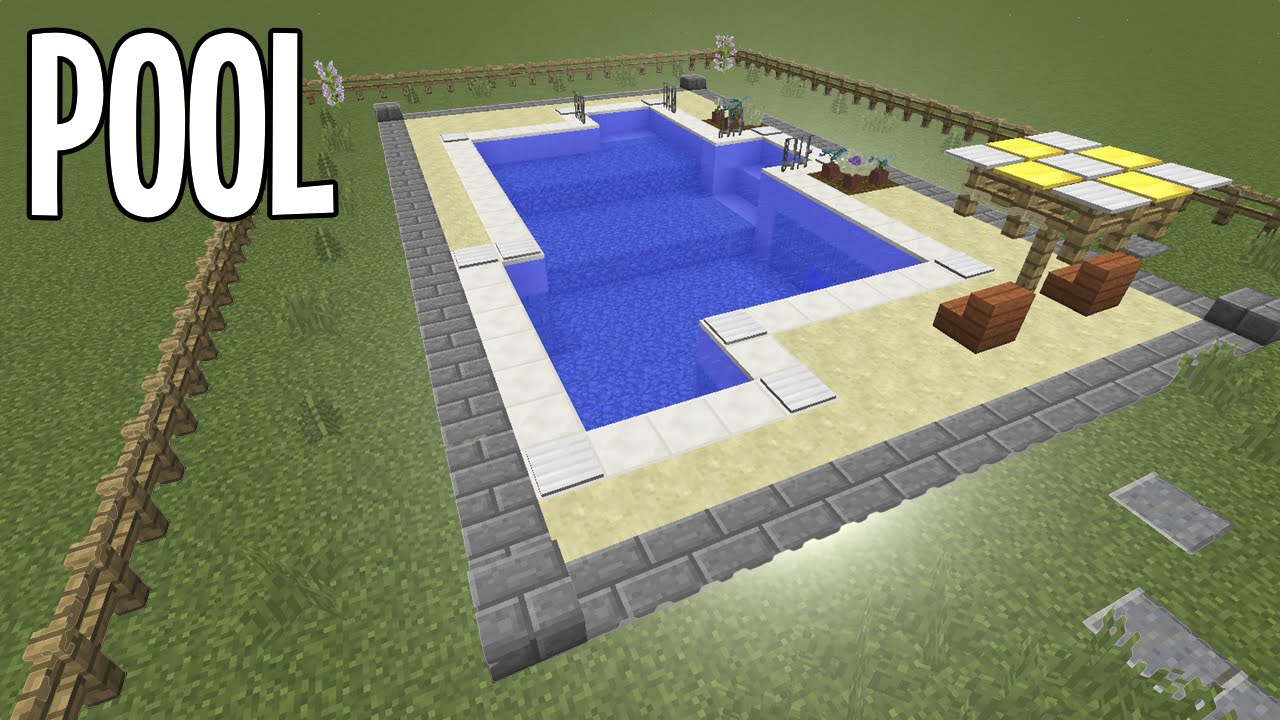 How To Build A Pool In Minecraft
