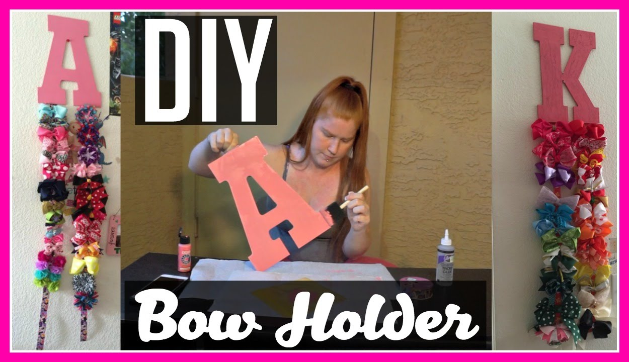 DIY Bow Holder! | Under $10! - YouTube