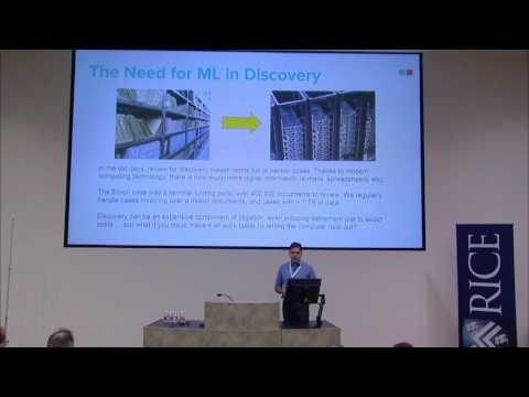 2017 Rice Machine Learning Workshop: Deep Learning for Legal Technology