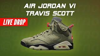 TRAVIS SCOTT Jordan 6 Cactus Jack Shock Drop Nike Air Jordan VI Travis Scott How to Cop Live Stream