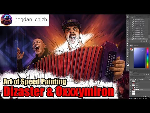 Dizaster & Oxxxymiron Art of Speed Painting