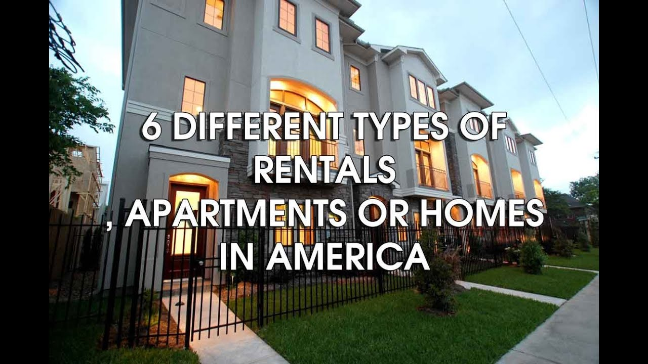 6 different types of housing or rentals in america YouTube
