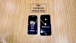 Galaxy S7 edge Black Pearl 128Gb Vs Iphone 7 Plus Speed Test