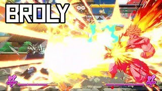 DBFZ: Broly Combos and Hype! (100% Damage Combo!)