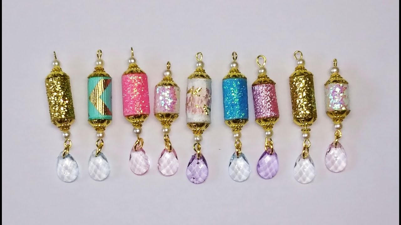 DIY~Sparkly Scrappy Ribbon Beads For Journals & Tags!