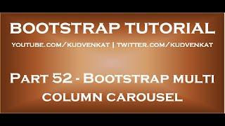 Bootstrap multi column carousel thumbnail