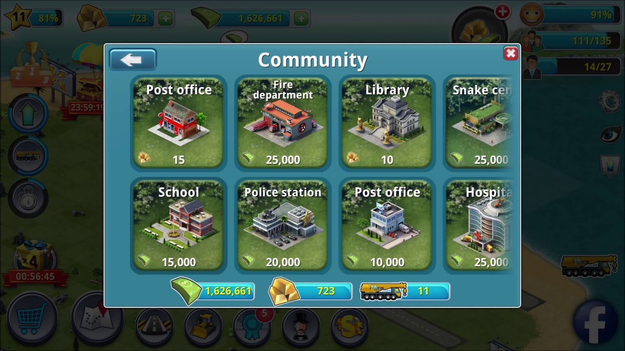 City Island 3 Building Sim Unlimited Money & Gold Cheat MOD APK