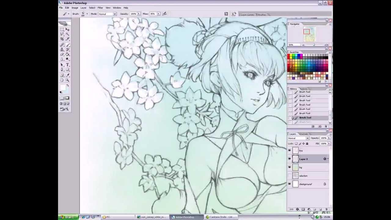Manga art secrets in Photoshop - Coloring Background - YouTube