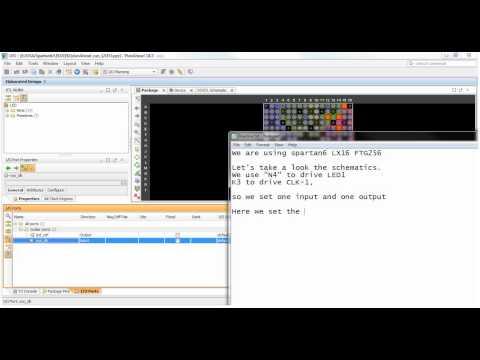 Xilinx Spartan6 ISE 14 7 LED HelloWorld