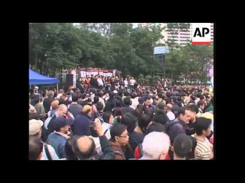 WRAP Pro-democracy march in Hong Kong