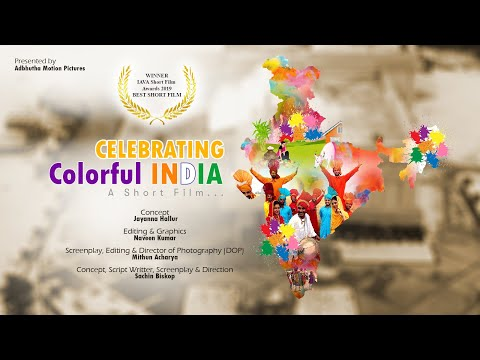 Award Winning | Celebrating Colorful INDIA | English | Short Film (2019) on Indian Festivals