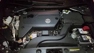 2013-2018 Nissan Altima - How To Check & Fill Power Steering Fluid Reservoir - QR25DE Engine