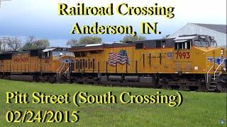 Railroad Crossing: Pitt Street, Anderson, IN. CSX Main Track 1