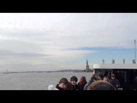 New York City Skyline From the Hudson Bay and the Statue of Liberty