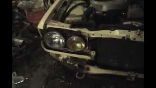 1983 Mercedes-Benz 240D - part 24: removing front bumper