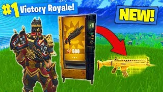 *NEW* LEGENDARY VENDING MACHINE GAMEPLAY In Fortnite Battle Royale!