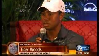 Tiger Woods plays in the Kenny G. Pro-Am