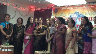 Limbu Didi bahinis are playing deusi 2014 in NewYork City