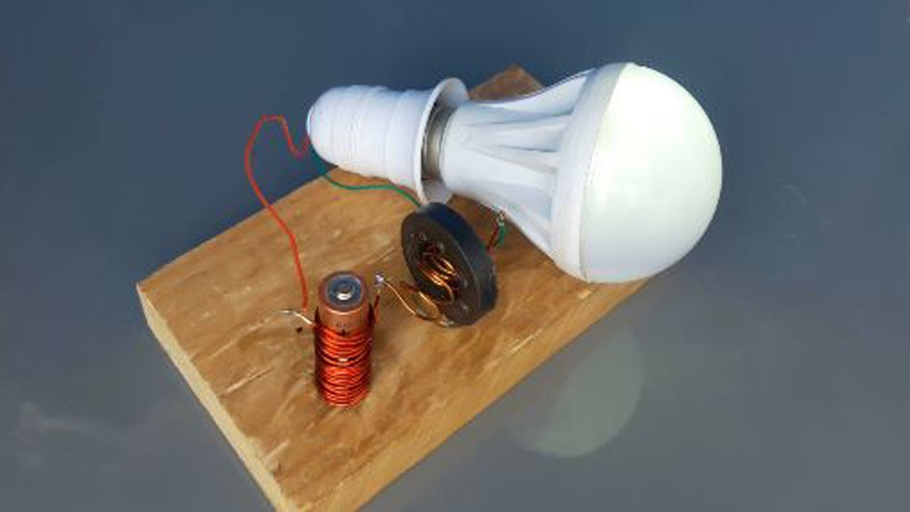 How to make Free energy Device using Magnet with Copper wire | New Electric  generator light bulbs 20