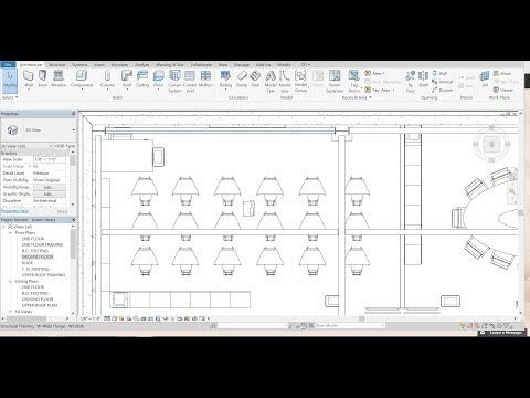 Autodesk Revit Green Library Design Tutorial - Part 3 - Meeting Room Design