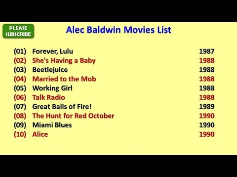 Alec Baldwin Movies List
