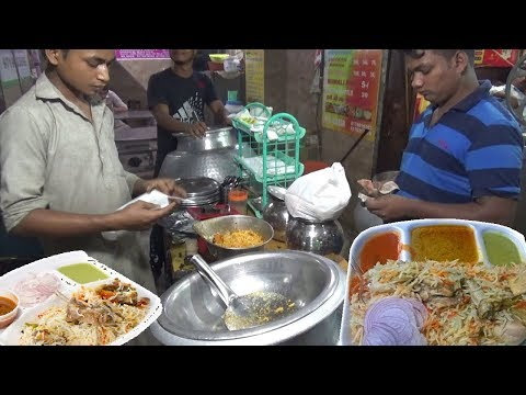 Muradabadi Chicken Biryani in Delhi Street Half Plate 90 Rs People are Crazy to Eat