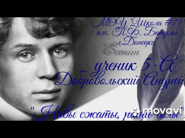 Изображение предпросмотра прочтения – АндрейДобровольский читает произведение «Нивы сжаты, рощи голы…» С.А.Есенина