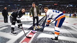 Zlatan Ibrahimović Drops the Puck at the LA Kings Game