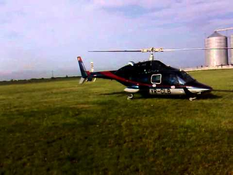 Helicopter BELL 222/230 Airwolf Turbine Engine Startup and Liftoff