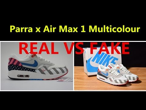 new arrival 1912d 68ca0 REAL VS FAKE PARRA X AIR MAX 1 Detailed Comparison review