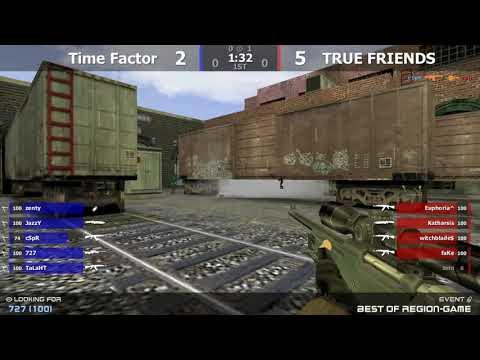 Полуфинал турнира по CS 1.6 от проекта Region-game.ru [TRUE FRIENDS -vs- Time Factor]2map @kn1fe TV