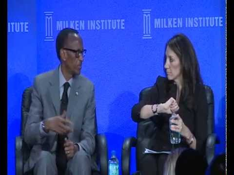 President Kagame at Milken Institute Conference- Los Angeles, 29 April 2014