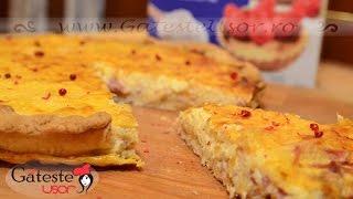 Reteta de Tarta Quiche fara gluten cu Branza si Prosciutto