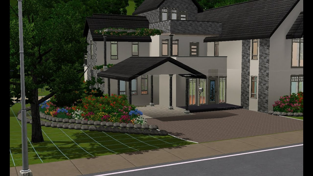 Sims 3 building a large family home youtube for Large family home