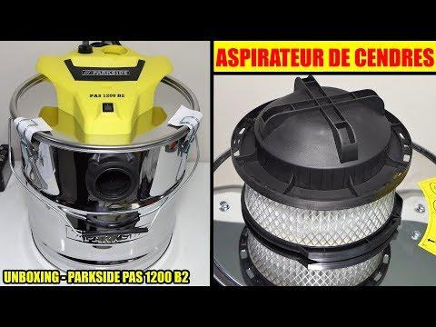 aspirateur de cendres lidl parkside pas 1200 deballage Ash Vacuum Cleaner Aschesauger