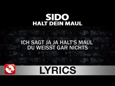 SIDO - HALT DEIN MAUL AGGROTV LYRICS KARAOKE (OFFICIAL VERSION)
