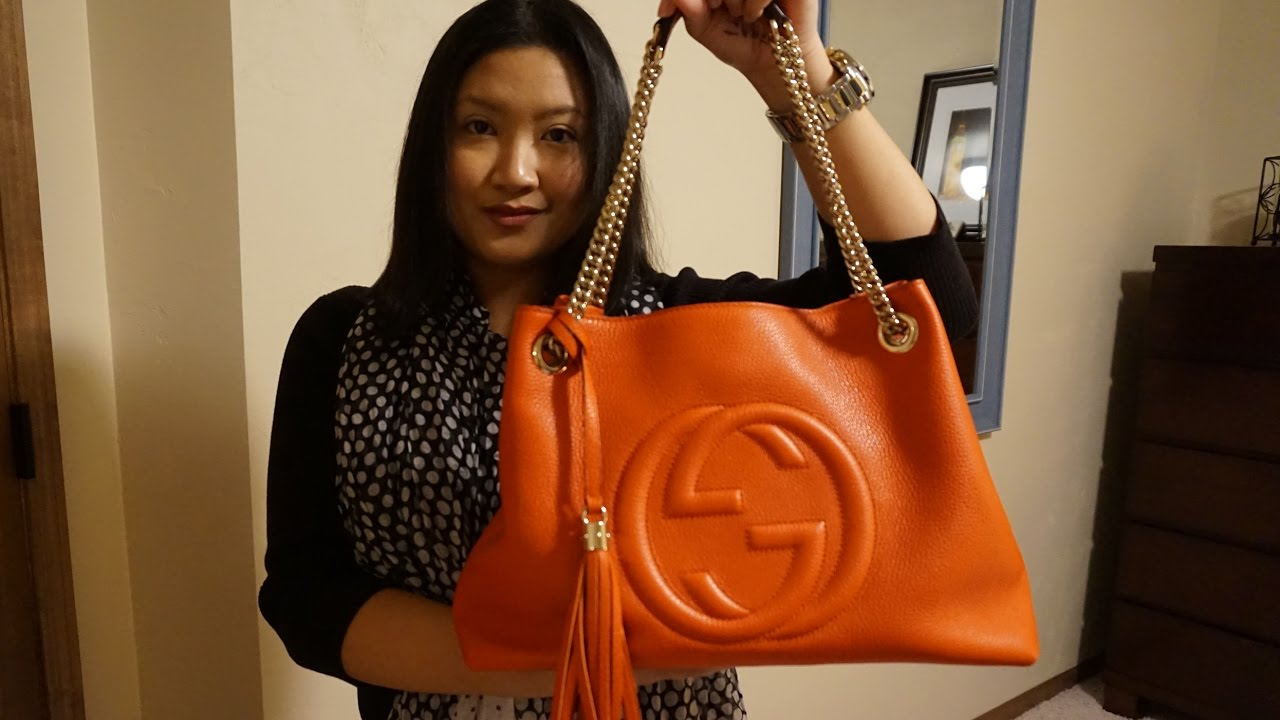 fd34b155b16a Gucci Soho Leather Shoulder Bag Review - YouTube