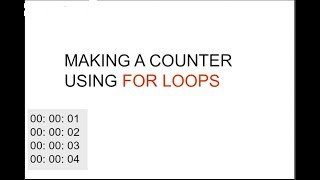 C Program 01: Making a counter using nested for loop