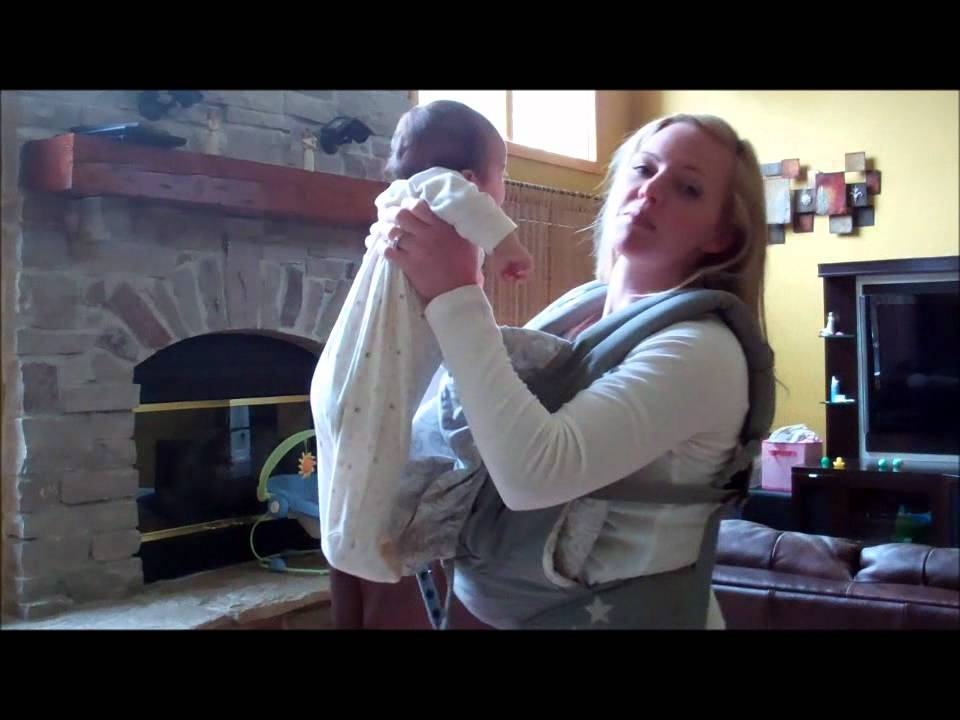 How To Wear An Ergo With An Infant Insert Youtube